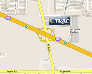 Map To TRAC Center